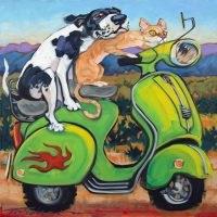 "Learner's Permit Connie Townsend 20"" x 20"" acrylic on canvas $1300"