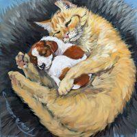 "Do Not Disturb Connie Townsend 18"" x 18"" acrylic on canvas $950"