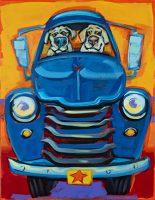 """Dog Stars Connie Townsend 18"""" x 14"""" acrylic on canvas $750"""