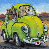 "Love Rules Connie Townsend 10"" x 10"" acrylic on canvas $320"