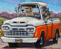 """Four Eyes Connie R. Townsend 24"""" x 30"""" acrylic on canvas $2400"""