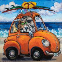 "Makin' Waves Connie R. Townsend 36"" x 36"" acrylic on canvas $3900"