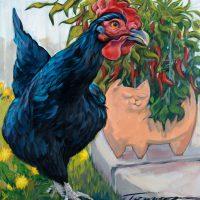 """Garden Variety Connie R. Townsend 20"""" x 20"""" acrylic on canvas $1300"""
