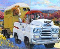 "That'll Do Connie R. Townsend 60"" x 72"" diptych acrylic on canvas $7900"
