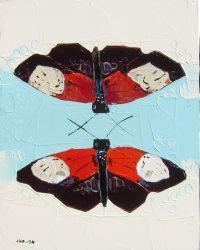 "Double Flutter Trevor Mikula 10"" x 8"" acrylic on panel $350"