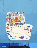 """Moroccan Fantasy Trevor Mikula 14"""" x 11"""" acrylic on canvas $475"""