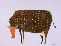 """How Now? Trevor Mikula 18"""" x 24"""" acrylic on canvas $875"""