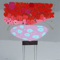 "Cotton Candy Trevor Mikula  48"" x 48"" acrylic on panel $3950"