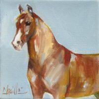 "The Eagle Chaille Trevor  6"" x 6"" oil on canvas $160"