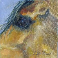 """Witness Chaille Trevor  6"""" x 6"""" oil on canvas $160"""