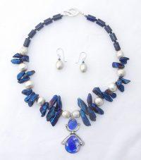 Space Odyssey = Set of 2 Necklace / Earrings Adriana Walker  $345