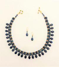 Lapis Splendor - Necklace & Earrings Adriana Walker  $228
