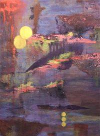 "Mindscape Adriana Walker 48"" x 36"" mixed media on canvas $1480"
