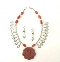 Chinese Orange - Necklace/Earrings Adriana Walker  $188
