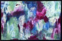 "Destinations Adriana Walker 25"" x 37"" mixed media on canvas $1450"