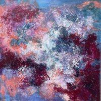 "Perseverance Adriana Walker  36"" x 36"" mixed media on canvas $1650"