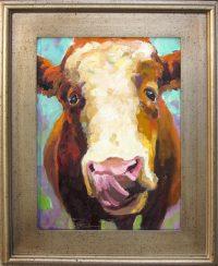 "The Big Lick Sarah Webber 22"" x 18"" oil on canvas $1100"