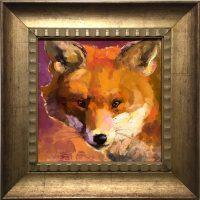 """Pixie Sarah Webber 15-1/2"""" x 15-1/2"""" oil on canvas $695"""