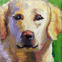 """Mini Lab #2 Sarah Webber 3"""" x 3"""" oil on canvas $75"""