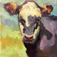 "Young Baldy Sarah Webber 8"" x 8"" oil on canvas $475"