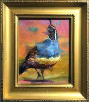 """Quality Quail Sarah Webber 14-1/4"""" x 12-1/4"""" oil on canvas $595"""