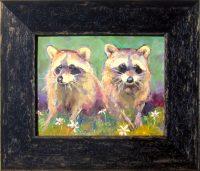 "Garden Guests Sarah Webber  12.75"" x 14.75"" oil on panel $225"