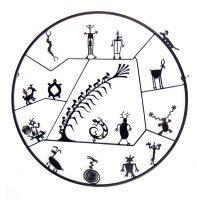 "Petroglyph Circle Doug Weigel  43"" steel $3000"