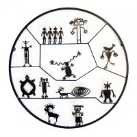 "Petroglyph Circle Doug Weigel 35"" steel $1740"