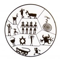 "Petroglyph Circle Doug Weigel 49"" steel $1990"