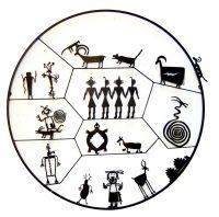 "Petroglyph Circle Doug Weigel 55"" steel $3400"