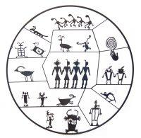 "Petroglyph Circle Doug Weigel  52"" steel $4100"