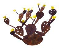 "Prickly Pear Cactus Doug Weigel 31"" x 47"" x 39"" steel $2330"