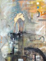 "Hand Print Amanda Wilner  48"" x 36"" oil on canvas $3900"