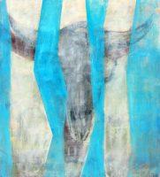 "Blue Skull Amanda Wilner  42"" x 37"" oil on canvas $3050"