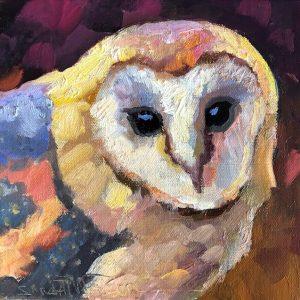 """Barn Buddy by Sarah Webber , 8"""" x 8"""", oil on canvas"""