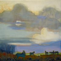 "Wild Horse Mesa Peggy McGivern 24"" x 24"" oil on canvas $2,700"