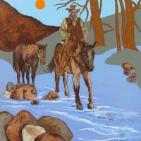"Untitled Joseph E. Young 36"" x 36"" acrylic on canvas $1675"