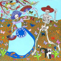 """Day of the Dead - Fan Dance Joseph E. Young 36"""" x 36"""" acrylic on canvas $1675"""