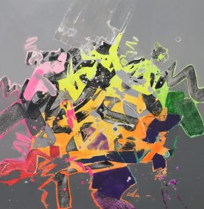 "Delta  by Jack Roberts , 24"" x 24"", acrylic on canvas"