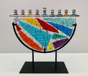 Festive by Sue Goldsand, 10.75 h x 11.5 w x 4d, glass