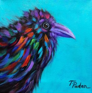 Baby Raven by Theresa Paden, acrylic on canvas