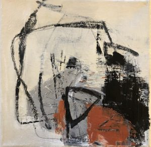 """Abstract</em>Julie Schumer by Julie Schumer8"""" x 8""""mixed media on canvas"""