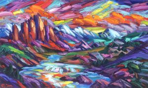 """Cathedral of Colors by Greg Dye, 36"""" x 60"""", oil on canvas"""