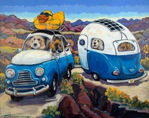 """Jackknife Camp by Connie Townsend , 48"""" x 60"""", acrylic on canvas"""