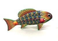 "Fish Adam Thomas Rees 4"" x  8"" x 3"" steel and mixed media $800"