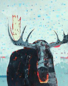 """Head On by Sherri Belassen50"""" x 40""""oil on canvas"""