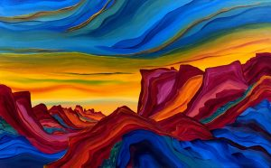 Red Canyon Mountains by