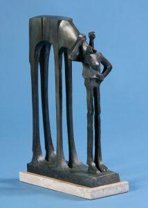 "Mick & Mack by Wayne Salge, 13-3/4"" x 9-1/8"" x 4-1/2"", cast bronze"