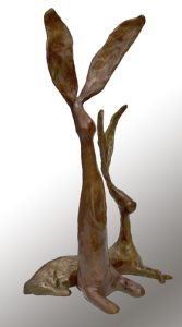 Chauncy and AbbyJim Budish Cast bronze by