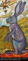 Rabbitbrush Reverie 10x20  acrylic on wood with glass accents